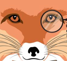 Fashion Animals - Foxy Fox | artwork by Olga Angelloz Sticker