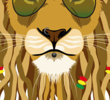 Fashion Animals - Rastalion | artwork by Olga Angelloz Sticker
