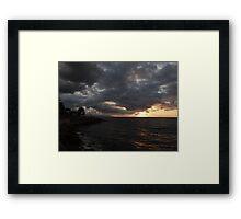 clouds of an indian summer's evening -  nubes de una nochecita de un veranillo de san miguel Framed Print