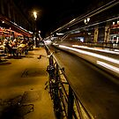 Paris cafe at night by Sven Brogren