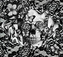 Butterfly lace skull pattern.  by KristyPatterson