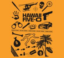 Hawaii Five-O Icons (Black) by Sharknose