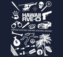 Hawaii Five-O Icons (White) by Sharknose