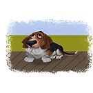 Basset Hound Cartoon by Matthew Hennen