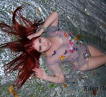 Red Haired Water Fairy by Ellen  Griffin