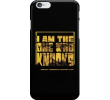 I am the one who knocks iPhone Case/Skin