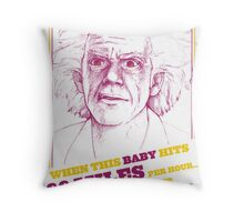 BACK TO THE FUTURE- DOC BROWN Throw Pillow