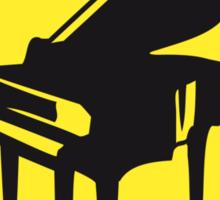Warning Piano Sign Design Sticker