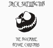 Jack Skellington The Nightmare Before Christmas Black by ParaFan11