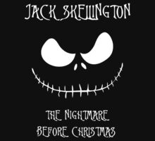 Jack Skellington The Nightmare Before Christmas White by ParaFan11
