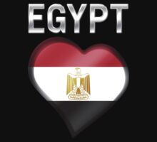 Egypt - Egyptian Flag Heart & Text - Metallic by graphix