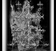 ©DA Cross Of Thor Fractal IIIA Monochrome by OmarHernandez