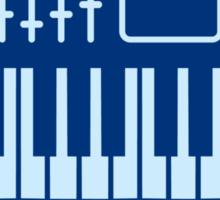 Keyboard Piano Design Sticker