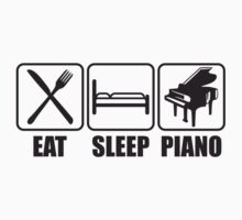 Eat Sleep Piano Logo by Style-O-Mat