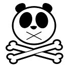 Panda Cross Bone by Adamzworld