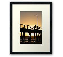 Sunset at Henley Jetty Framed Print