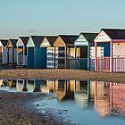 Winter beach huts by Judi Lion