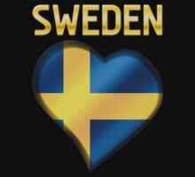 Sweden - Swedish Flag Heart & Text - Metallic by graphix