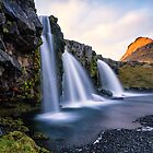 Kirkjufell Mountain and waterfalls by Marzena Grabczynska Lorenc