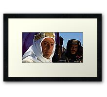 "Peter O'Toole & Omar Sharif @ ""Lawrence of Arabia"" Framed Print"