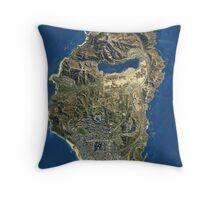 Grand Theft Auto V Map Throw Pillow