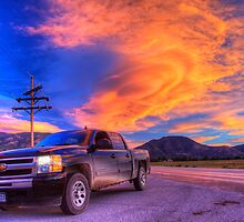 Silverado Sunset, outside Salida, Colorado by activebeck2012