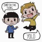 Star Trek - Spock and Kirk by Jo Lingard