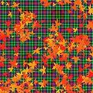 Leafy Tartan by Orla Cahill