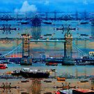 Thames Memories of Tower Bridge, London England by Val  Brackenridge