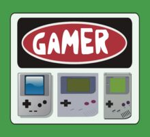 GAMER: RETRO GAMEBOY HAND HELD CONSOLES, FUNNY DANGER STYLE FAKE SAFETY SIGN by DangerSigns