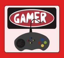 GAMER: RETRO STYLE CONTROLLER, FUNNY DANGER STYLE FAKE SAFETY SIGN by DangerSigns