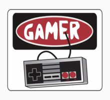 GAMER: RETRO CONTROLLER, FUNNY DANGER STYLE FAKE SAFETY SIGN by DangerSigns