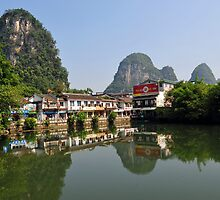 Yangshuo & The Harst Mountain Range, China. by Ralph de Zilva
