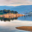 Lake Hume Reflections Panoramic - Lake Hume -NSW/Victoria - The HDR Experience by Philip Johnson