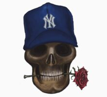 NY Yankees Skull   by david michael  schmidt