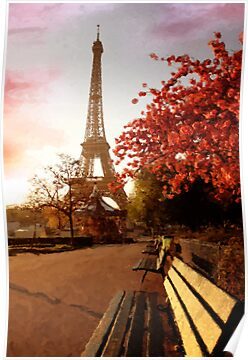 Eiffel Tower, Paris by GarfunkelArt