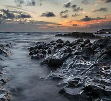 Textured Rocks of Woolacombe Bay by Gareth Spiller