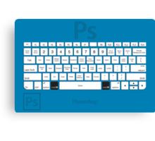 Photoshop Keyboard Shortcuts Blue Cmd Canvas Print