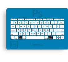 Photoshop Keyboard Shortcuts Blue Opt Canvas Print