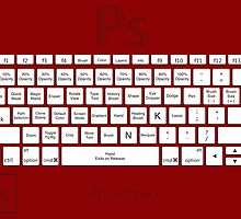 Photoshop Keyboard Shortcuts Red Tool Names by Skwisgaar