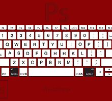 Photoshop Keyboard Shortcuts Red Opt by Skwisgaar
