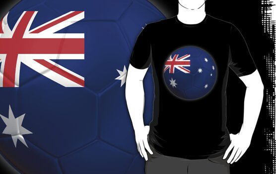 Australia - Australian Flag - Football or Soccer 2 by graphix