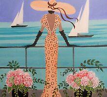 LADY ON A BALCONY by Dian Bernardo