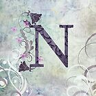 Initials - N purple by JuniperMe