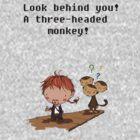 A three headed monkey by giugiu