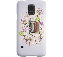 Creative typewriter in retro style with colorful swirls Samsung Galaxy Case/Skin