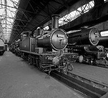 Steam Locomotive B&W II by Simon Lawrence