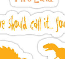 curse your sudden but inevitable betrayal, firefly, orange Sticker