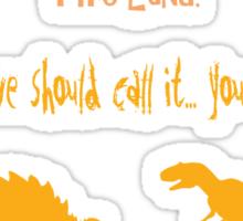 curse your sudden but inevitable betrayal, firefly, orange Sticker