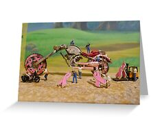 Diorama16 : Watch Parts Motorcycles Greeting Card